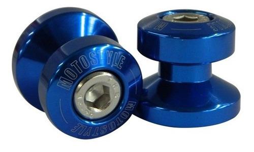 slider de balança 6mm yamaha r3/mt-03/r1/r6 azul