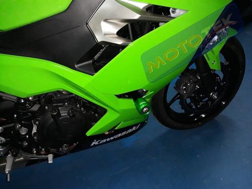 slider dianteiro motor premium racing kawasaki ninja 400