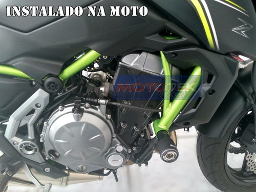 slider dianteiro protetor motor premium kawasaki z650 z 650