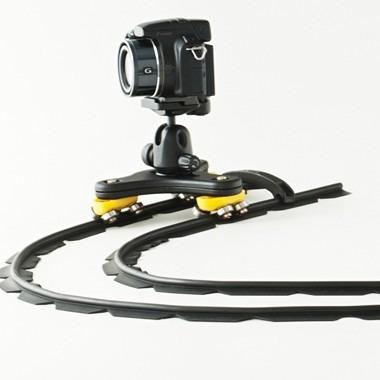 slider dolly 4 metros flexivel p/ filmagens c/cabeça+bag
