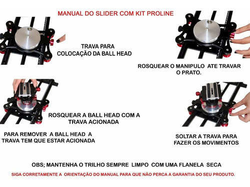 slider doly cameras filmadoras dslr com pro line 0,80 cm max
