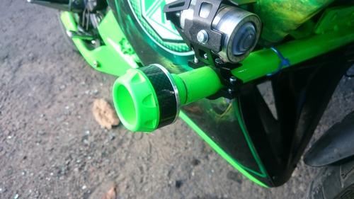 slider lujo moto llanta defensa fibra de carbono y aluminio