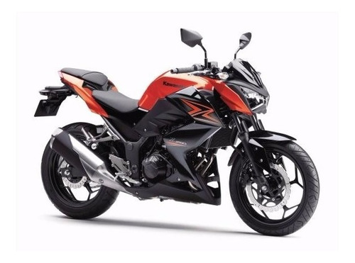 slider motostyle kawasaki z300 z 300 laranja anodizado