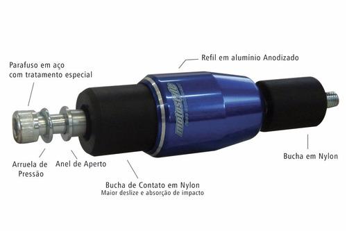 slider proteção alumínio honda cbr 600 r 10/13