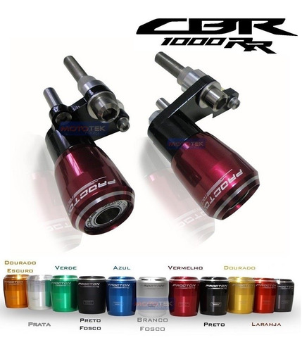 slider protetor motor procton honda cbr1000rr 2006 a 2007