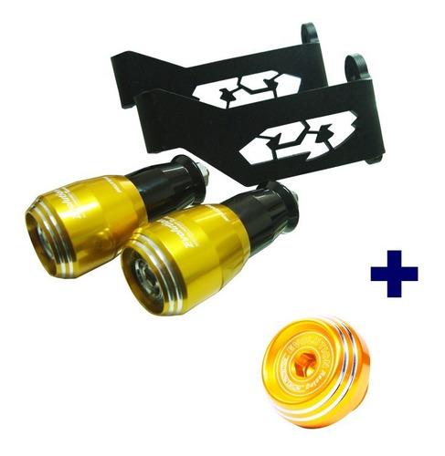 slider spring evolution cb 300r + tampa óleo dourado