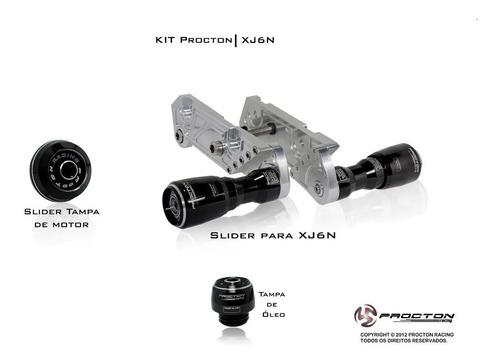 slider tampa motor tampa óleo procton xj6 n 2013 / 2018
