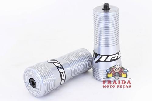 slider viper snake honda titan 150 / fan - prata