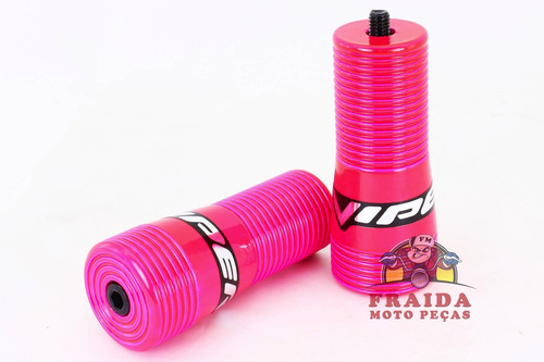 slider viper snake honda titan 150 / fan - rosa neon