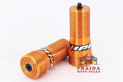 slider viper snake yamaha 125 ybr / factor 125 - dourado
