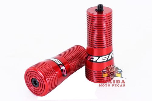 slider viper snake yamaha 125 ybr / factor 125 - vermelho