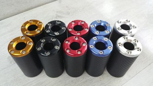 sliders delantero imitacion carbono anodizados color dorado