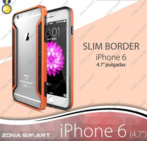 slim border iphone 6 (4.7 pulgadas) nillkin bumper tpu + pc