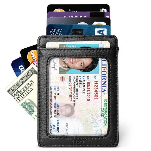 slim card holder hombre cartera - bloqueo rfid - minimalista