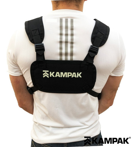 slim chest bag kampak nv56 vinil glowshift brilla oscuridad