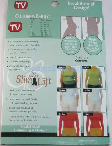 slim & lift faja reductora cuerpo completo