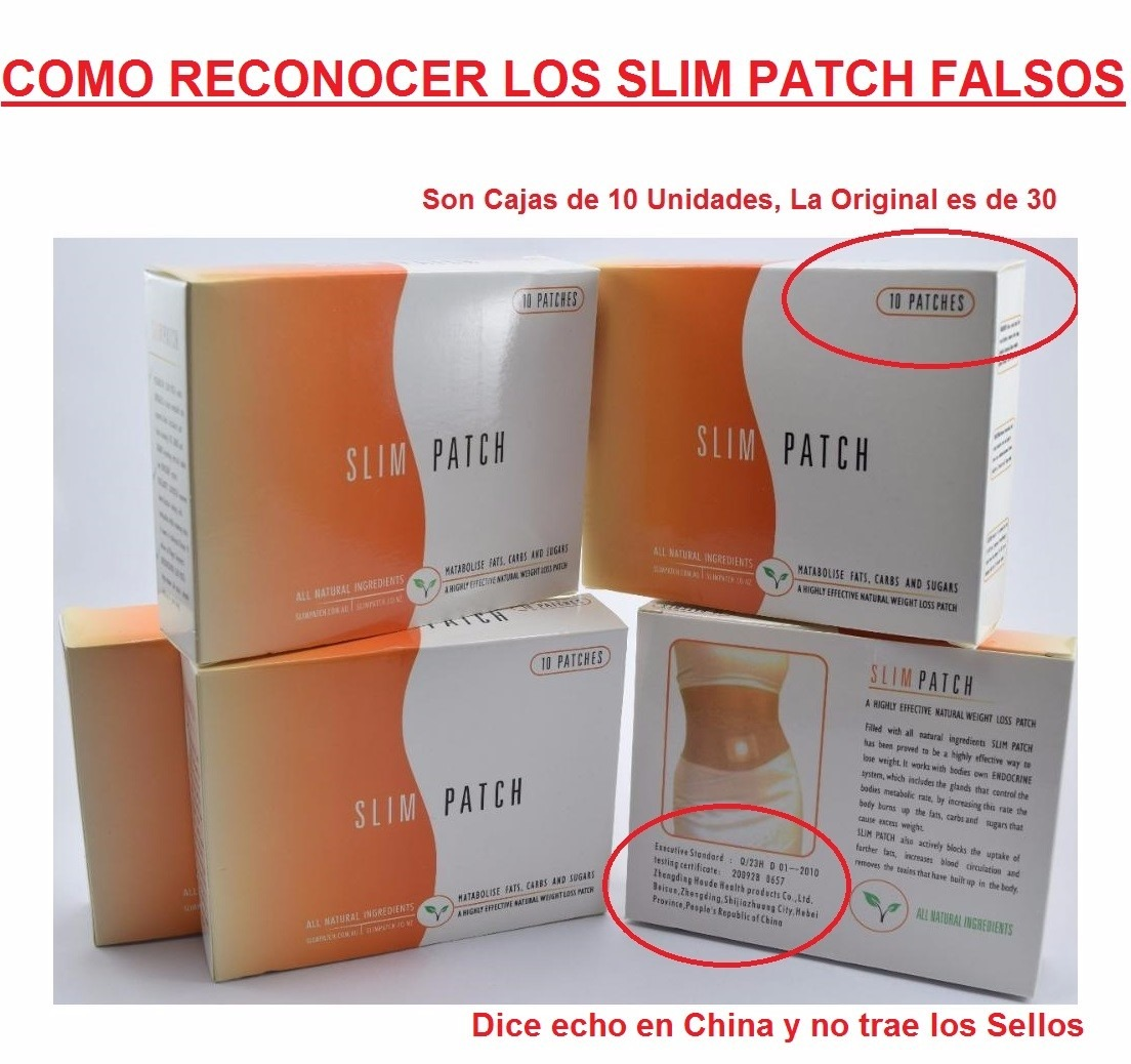 Slim Patch, Parches Adelgazantes Para 60 Días, El Original