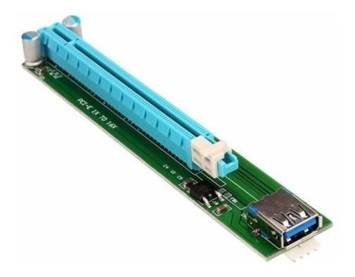 slim pci-e express 1x to 16x riser adapter usb 60cm cable *