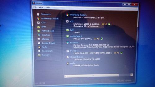 slimbook philco 14  320gb / 2gb memoria
