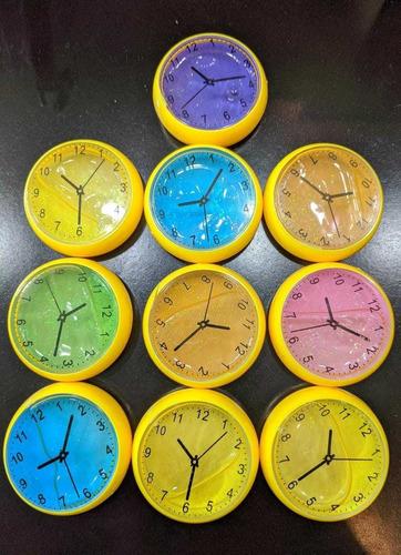 slime forma de reloj varios colores (10 piezas)