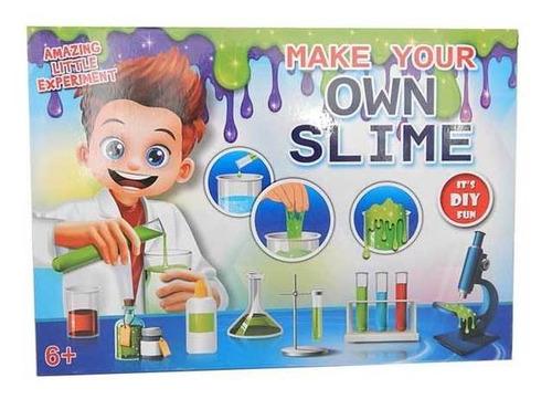 slime kit juego químico con brillantina niños supergym