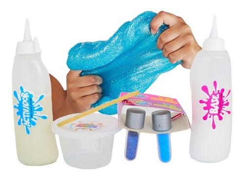 slime mágica masa moldeable plastilina base activador polvo