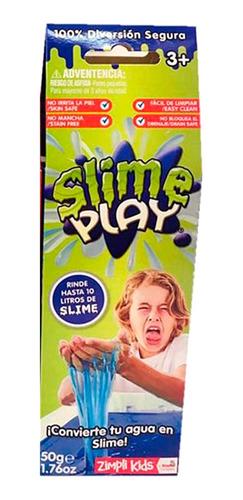 slime play rinde 10 litros azul convierte agua en slime