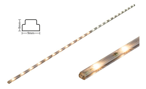 slimled stripled tiras de led lampara led 80cm l 8w apg+clvj