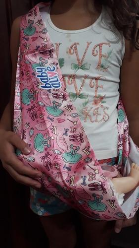 sling para boneca baby alive ballet tipo canguru - pacific