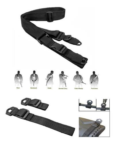 sling porta fusil tactico 2 y 3 puntos correas universal pro