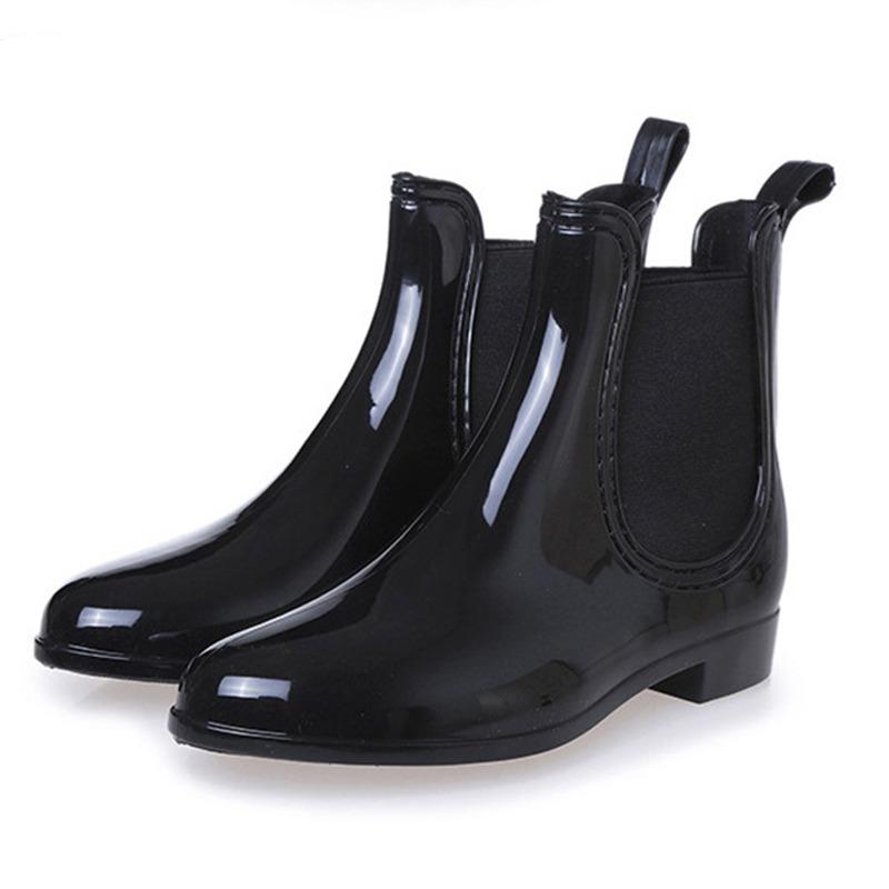 a727f041066 Slip elástico de moda para mujer en botas de lluvia cortas jpg 800x800 Botas  cortas para