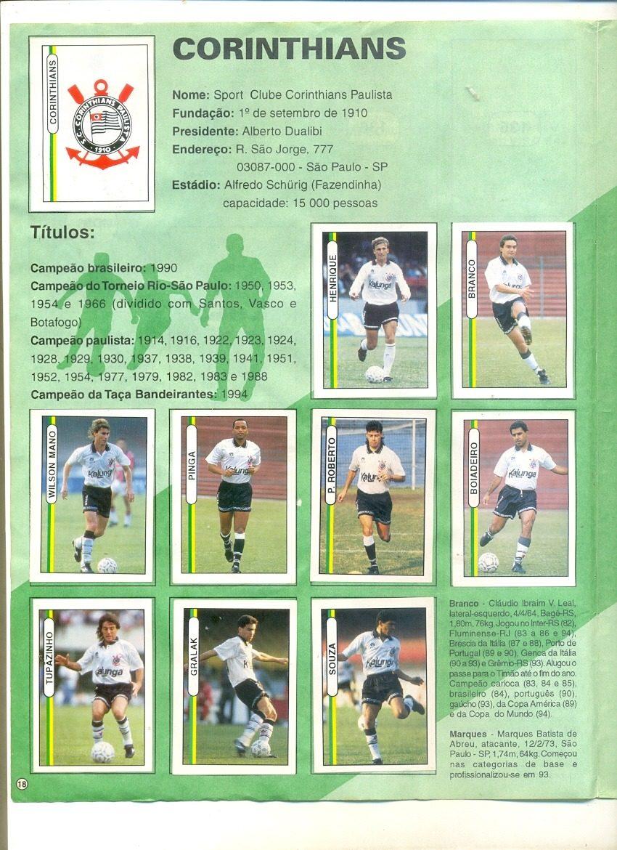 50011bd5cf696 sll  Álbum Campeonato Brasileiro 94 - Futebol - Completo - R  150