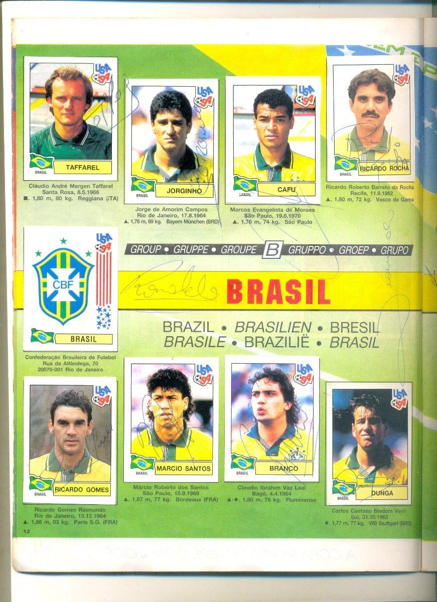 43f30a4bab sll  Álbum Copa Do Mundo 94 Campeonato Mundial Autografado - R ...