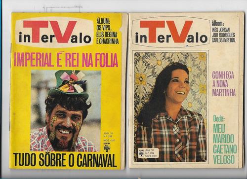 *sll* lote 17 revistas intervalo - anos 60/70 editora abril
