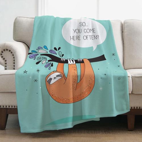 sloth blanket plush microfiber blanket para sofá cama ...