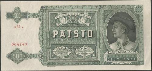 slovaquia 500 korun 12 jul 1941 p12a