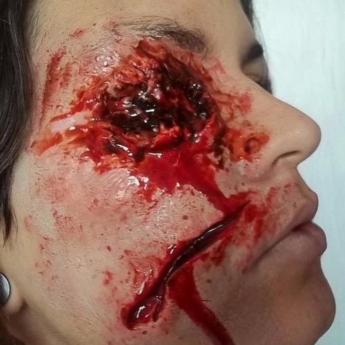 slug maquiagem de terror kit festa fantasia halloween teatro
