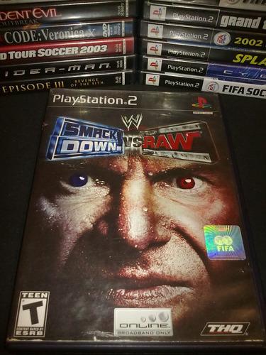 smack down vs raw playstation 2 completo en muy buen estado