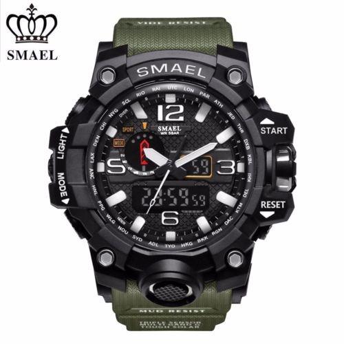392d54c3b5c8 Smael Muñeca Deportiva Militar Masculina Watch... (black) -   36.990 ...