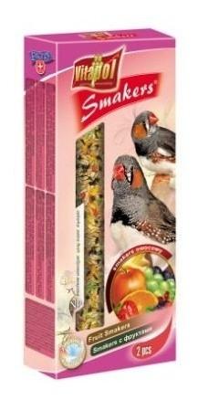 smakers de frutas para aves exoticas 60 g 2 barras pethome