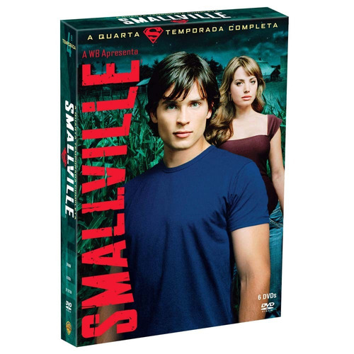 smallville 4ª temporada - box com 6 dvds - lacrado
