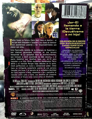 smallville - la tercera temporada (2006) 6 dvds
