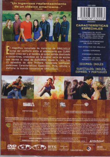 smallville primera temporada 1 uno dvd