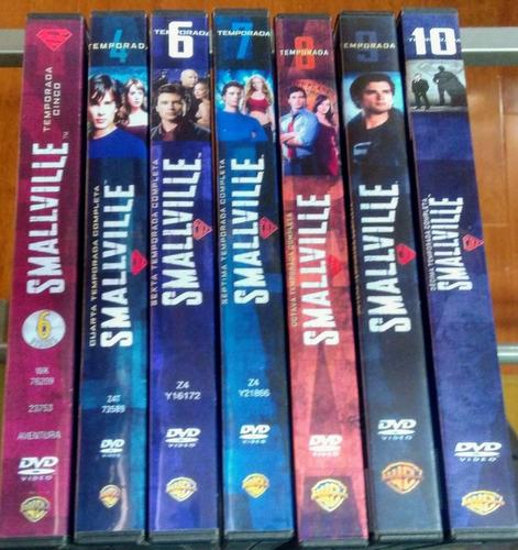 smallville serie completa en dvd 10 temporadas ing y esp!!!