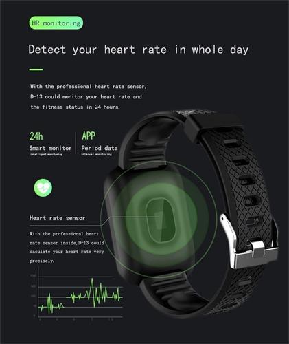 smart band 116 plus monitor deportivo bt 4.0 termómetro