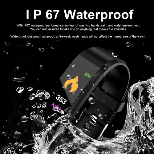 smart band brazalete inteligente contra agua