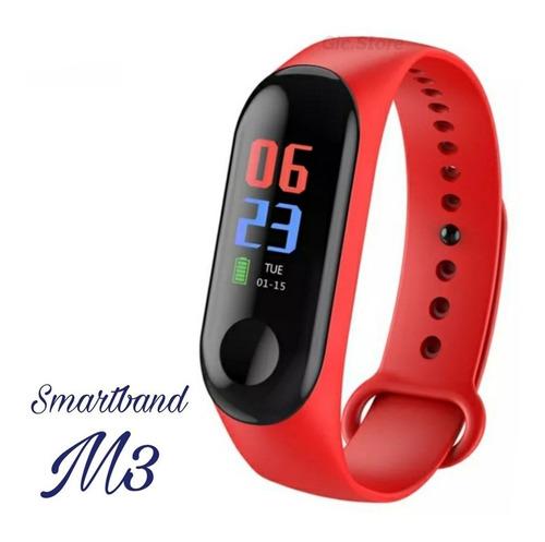 smart band m3 reloj inteligente unisex podómetro waterproof