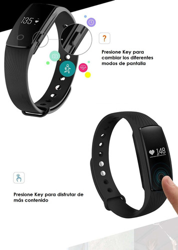 smart band sport monitor cardiaco id107 -- smart watch