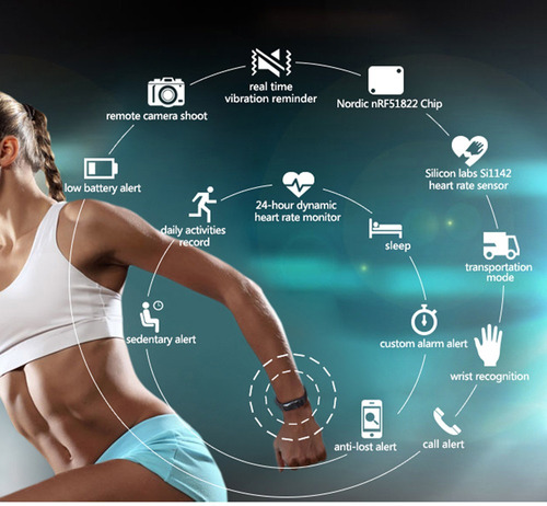 smart band sport monitor cardiaco -- smart watch