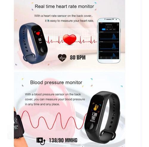 smart band watch m3 ritmo cardiaco podometro presion sport